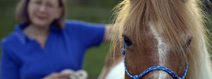 Elisabeth Pulina und ihr Pferd