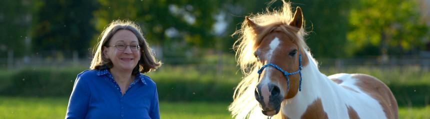 Banner Elisabeth Pulina und ihr Pferd Milan